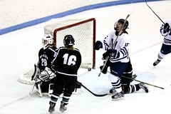 Winning goal (stephencharlesjames) Tags: ice hockey winter sport womens sports goal action middlebury college bowdoin vermont
