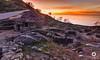 Castros de A Guarda (David Castro Rodriguez) Tags: nikon nikor castros aguarda sun sunset sky long exposure stone blue yellow orange photography galicia galifornia galiciacalidade
