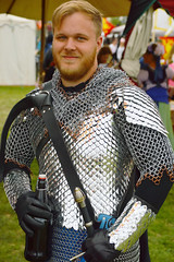 A knight in shining armor (radargeek) Tags: normanmedievalfaire2017 2017 norman medievalfair april costume portrait knight armor chainmail scalemail