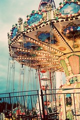 Lets go on a magical ride (DaniellaSevern) Tags: notts nottingham nottinghamshire theforest goosefair fairylights traditionalfairgroundride fairground fairgroundlights fairgroundrides swing traditional carousel carouselswing rollercoaster film colourfilm filmcamera filmphotography lifestylephotography peoplephotography streetphotography pentax pentaxespio140 35mm fujifilm fujifilmsuperia magical