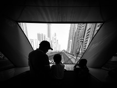 Dubai Railway (Niklas H. Braun) Tags: dubai architecture train city cityscape bw blackandwhite arab family father kid cute rail metropolis