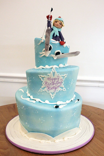Skiing Snow Winter Cake