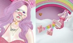 Rainbow Baby (LittleRen Resident) Tags: epic second life mesh bento catwa gift free maitreya niju tsg enfer sombre rainbow kawaii cute gacha zombie suicide curemore lovey dovey freebie pastel
