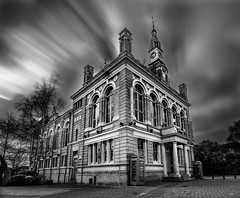 The Old Town Hall, (King Grecko) Tags: architecture bw bigstopper construction spelthorne staines abandoned blackandwhite brickwork building canon cloudtrail contrast derelict design history leefilters listedbuilding longexposure texture victorianera