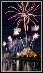Fireworks_7669 (bjarne.winkler) Tags: 2017 new year firework over sacramento river with ziggurat building background