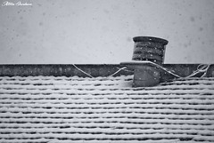 Comignolo Innevato (Attilio Iacobone) Tags: comignolo neve snow ice cold white filter roof chimney photo photography street city winter