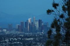 Blue Hour LA Skyline (Kelson) Tags: losangeles skyline hahnpark kennethhahnstaterecreationarea dtla bluehour