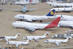 Untitled (Qantas) Boeing 747-400; N954JM@MHV;02.02.2016 (Aero Icarus) Tags: mojave mhv plane avion aircraft flugzeug
