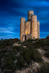Places that make us dream. (darklogan1) Tags: sony ilce7rm2 night nightphotography traditional longexposure lightpaint spain logan darklogan1 clouds sky tower castle fortress canon2470f28 metabones alarcon