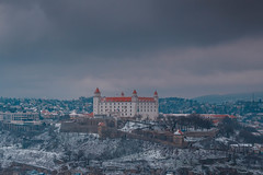 Bratislava Castle (T is for traveler) Tags: travel traveling traveler tisfortraveler world backpacker budget digitalnomad explore canon 700d sigma 1750mm bratislava slovakia winter mood photography architecture old city sky castle view snow weather