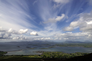 View of Clew Bay from  Croagh Patrick County Mayo Ireland