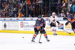 "Kansas City Mavericks vs. Indy Fuel, February 17, 2018, Silverstein Eye Centers Arena, Independence, Missouri.  Photo: © John Howe / Howe Creative Photography, all rights reserved 2018 • <a style=""font-size:0.8em;"" href=""http://www.flickr.com/photos/134016632@N02/26516595948/"" target=""_blank"">View on Flickr</a>"