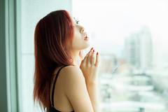 Pure (Novafly) Tags: model jill white pure motel taipei asia girl underwear window