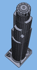 1:2000 US Bank Tower Roof (Doctor Octoroc) Tags: us bank tower los angeles california ca united states building skyscraper structure architecture 3dprinting shapeways