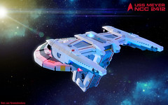 "USS Meyer (Ben ""Spaceship!"" Smith) Tags: lego star trek moc"
