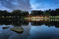 THE PAVILION (ChieFer Teodoro) Tags: canon 6d 1635mm gitzo gt2541 arca swiss z1 yongnnuo mc36 ruggard rtc10 lee filter landscape singapore chinese garden turtle pond pavilion rock blue hour