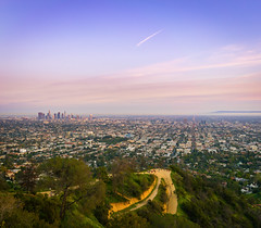 City of Los Angeles (meeyak) Tags: losangeles la city citylights venice venicecanals boats water reflection sunset dusk view downtown clouds meeyak sony a7r2 28mm zeiss batis 18mm westcoast california usa travel vacation outdoors winter cold