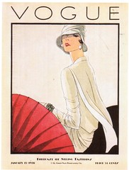 Postcrossing TW-2429359 (booboo_babies) Tags: vogue fashion oldfashioned clothes vintage 1928 white woman illustration drawing magazine magazinecover model postcrossing