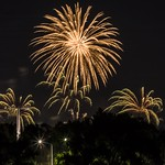 Fireworks - Palm trees and the Sun - Barton - ACT - Australia - 20180126 @ 21:04 thumbnail