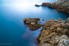 rock  and blue (harakis picture) Tags: sea rock blue france frenchriviera