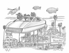 Cassava Village (rod1691) Tags: myart art sketchbook bw scifi grey concept custom car retro space hotrod drawing pencil h2 hb original story fantasy funny tale automotive illistration greyscale moonpies sketch sexy