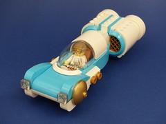 """The Dentist"" Hovercar (Tammo S.) Tags: lego moc hovercar scifi retro futurism aerocar decopunk"
