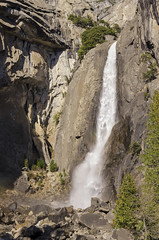Lower Yosemite Falls III (rschnaible (Not posting but enjoying your posts)) Tags: yosemitenationalpark yosemiten 約塞米蒂國家公園(yosemite 约塞米蒂国家公园(yosemite landscape sierranevada mountains west western us usa california outdoor hike lower falls water