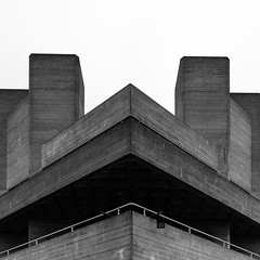 National Theatre - 25.1.18 (Ryan Trower Photography) Tags: skyscrapers london nikon d5300 architecture construction black white building structure skyscraper lines sky monochrome geometric city urban street tower facade concrete glass towers photography architect architects residential commercial sigma samyang national theatre royalnationaltheatre denyslasdun southbank brutalism brutalistarchitecture