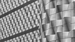 Abstract (laga2001) Tags: form shape pattern texture aluminum aluminium paraboloid shaped architecture facade plates abstract lines diagonal building leipzig contemporary composition monochrome blackandwhite bnw bw black white grey geometry geometric structure