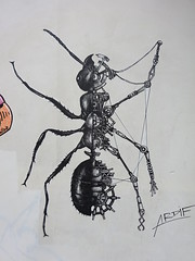 Ardif : la fourmi (Archi & Philou) Tags: ardif collage pasteup paris10 mécanimal fourmi ant insecte