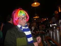 carnival david ordering beer (treenquick) Tags: costumes carnival hair colour