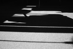 carpet shadows (larsniel) Tags: shadows carpet light shade graphic bw blackandwhite contrast afternoon sun sunlight nikon 35 pattern
