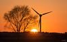 Sunset Nottinghamshire ~ 25/2/18 (deltic17) Tags: sunset sun dusk evening tree turbine wind setting zoom telephoto orange sky countryside