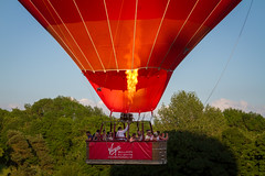 Up, Up and Away ..... (canon.fodder) Tags: balloon hotairballoon virgin tissington bluesky summer float basket burner takeoff