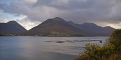 Loch Ainort fish farm.. (Harleynik Rides Again.) Tags: luib isleofskye lochainort fish farm mountains highlands westernisles scotland harleynikridesagain nikondf