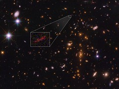 Zoom Lens in Space Stretches Image of One of Farthest Galaxies Yet Seen (NASA's Marshall Space Flight Center) Tags: nasa marshall space flight center msfc hubble telescope solar system beyond esa european agency galaxy sptclj06155746