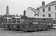 Three Bristols in The Plains (matt.oxon) Tags: 3301 afj721t bus coach 1252 vod122k 3304 afj724t bristol lhs lh marshall plaxton supreme western national nbc plains totnes