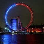 Blue and red London Eye thumbnail