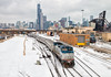 Old School Substitute (Wheelnrail) Tags: amtrak b328wh pepsi can bepis locomotive ge chicago downtown railroad rail road lincoln service rails train trains passenger saint charles airline 16th street 18th skyline midwest winter cold