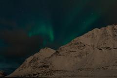 Aurora borealis and mountains (___pete___) Tags: norway lofoten polar night winter road trip islands aurora borealis