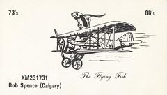The Flying Fish - Calgary, Alberta (73sand88s by Cardboard America) Tags: qsl cb cbradio vintage qslcard alberta