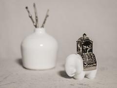 untitled (N.the.Kudzu) Tags: home tabletop stilllife pottery vase elephant perfume bottle gold canon70d lightroom