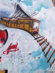 train et tag© (alexandrarougeron) Tags: art urbain environnement style ambiance mosaïque peinture tag décoration paris couleur color street rue dessin