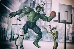 Hulk Dunk (jezbags) Tags: hulk dunk marvel vs star wars starwars stormtrooper stormtroopers trooper troopers droid battle basketball streetball macro macrophotography macrodreams canon canon80d 80d 100mm toy toys actionfigure shfiguarts bandai