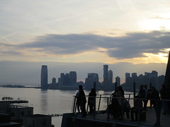 Whitney Museum of American Art balcony view of Jersey City Skyline 6391 (Brechtbug) Tags: new whitney museum american art balcony view jersey city skyline highline york nyc 01212018 street former rail road garden path walk way elevated el remodeled derelict urban reclamation boardwalk skyway pedestrian mezzanine streets midtown downtown meat packing district west side manhattan transportation design redesign architecture gallery 2018