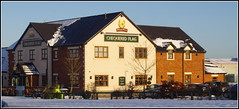 The Chequered Flag (Lotsapix) Tags: northamptonshire corby pub inn tavern alehouse ale snow weather building