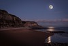 Full Moon over Hastings (James Waghorn) Tags: hastings beach nikon d7100 sea cliffs rocks reflections pebbles moon sigma1750f28exdcoshsm eastsussex winter clouds