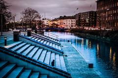 Dusk (Maria Eklind) Tags: bluehour bridge street water spegling city rörsjökanalen dusk canal kaptensbron malmö sky bro twilight blue kanal reflection building södraförstadskanalen sweden streetsofmalmö skånelän sverige se