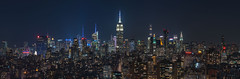 Midtown Pano from the 25th Floor (dansshots) Tags: nyc newyorkcity dansshots nikon nikond750 70200mm newyorkatnight longexposure pano panorama nycpanorama
