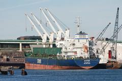 Zafer (jelpics) Tags: zafer bulkcarrier ciner cargoship crane cranes rocksalt merchantship boat bos boston bostonharbor bostonma harbor massachusetts ocean port sea ship vessel